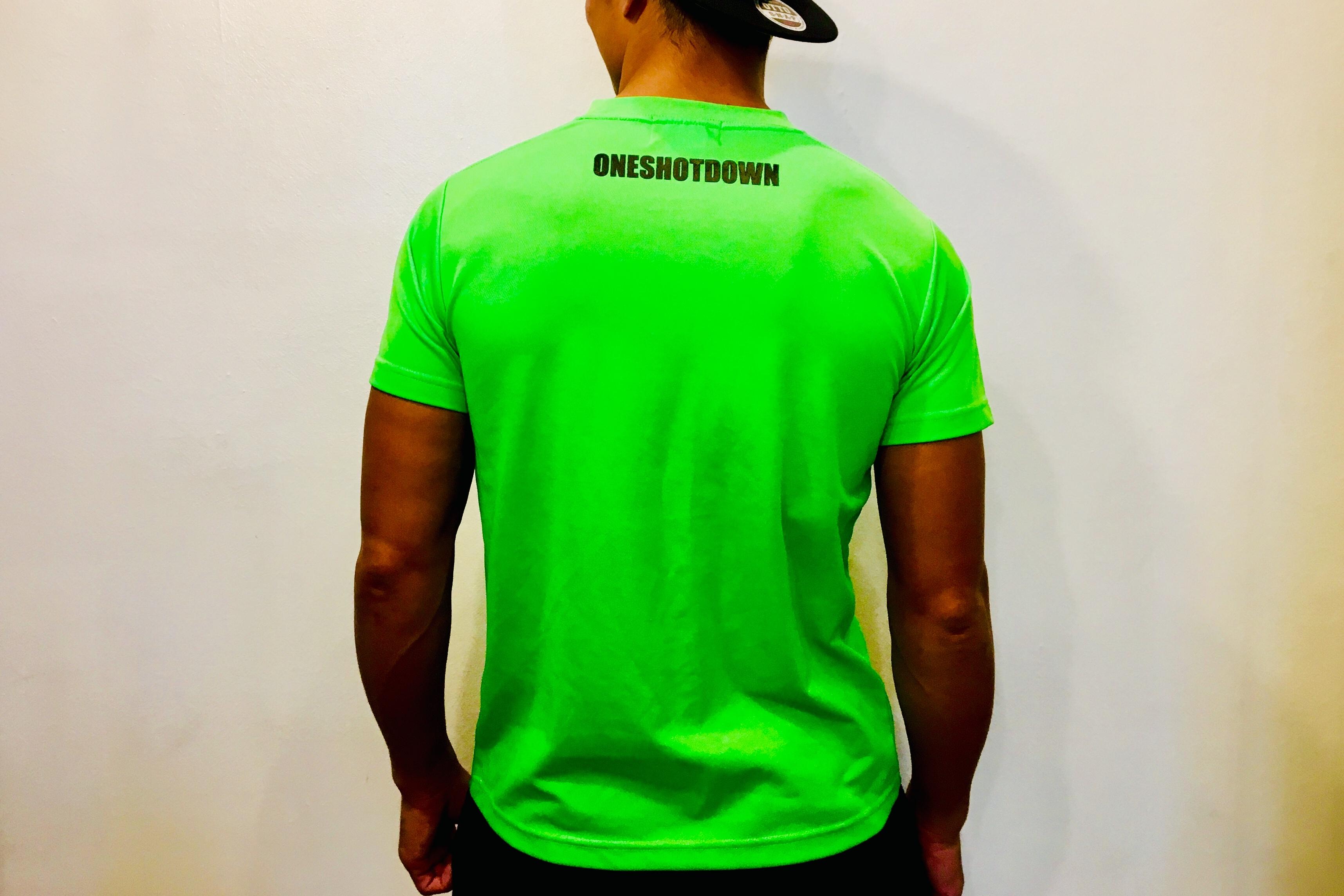ONESHOTDOWN ネオンカラードライTシャツ - 画像5