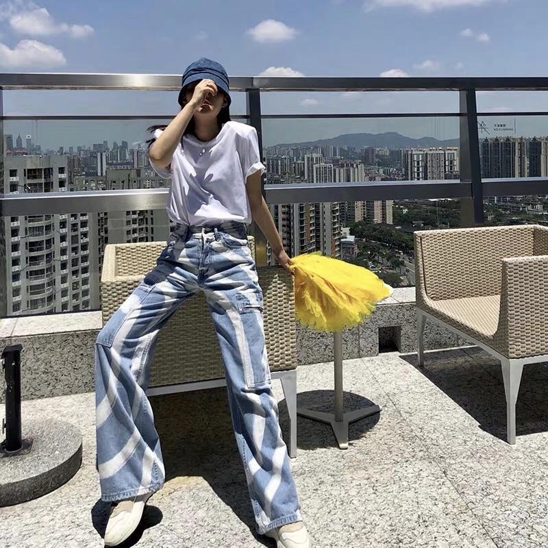 vortex pattern wide pants