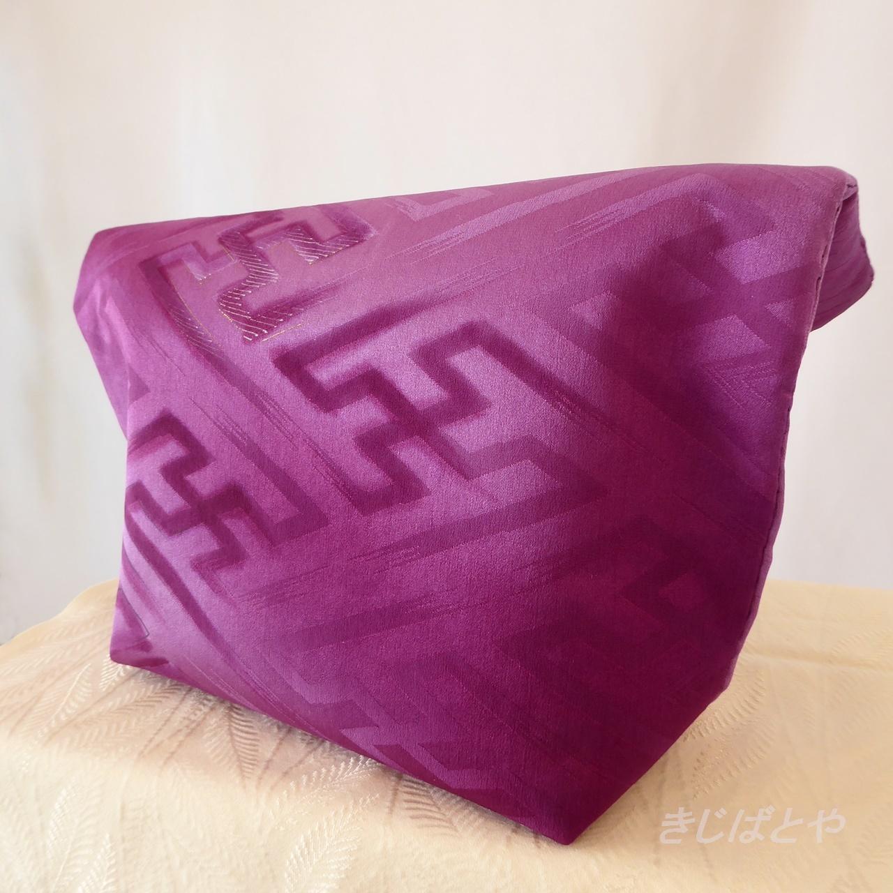 和裁士さんが考えたバッグインバッグ 菖蒲色に紗綾型