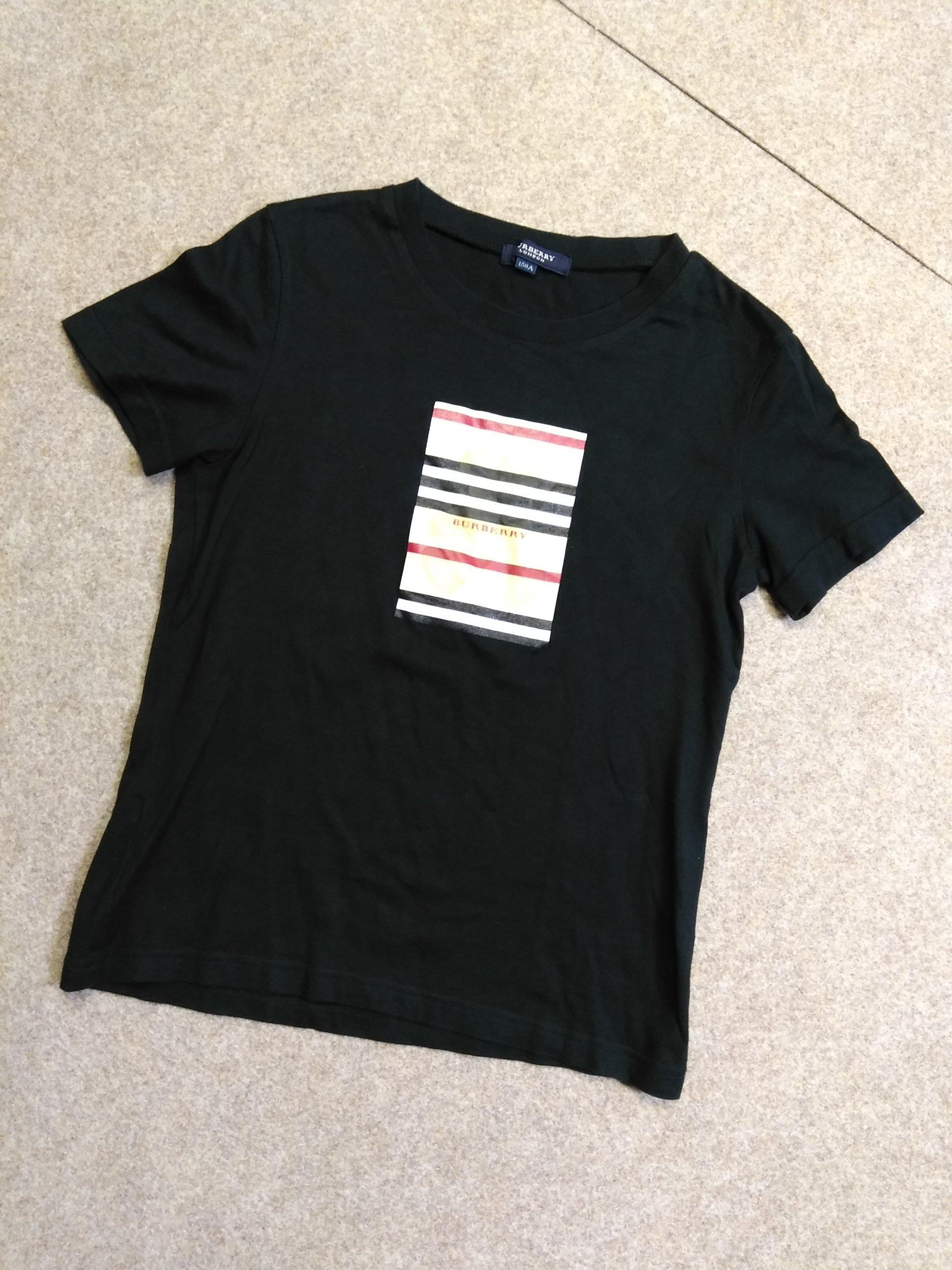 バーバリー BURBERRY Tシャツ キッズ 150A 黒 熊 mh735e