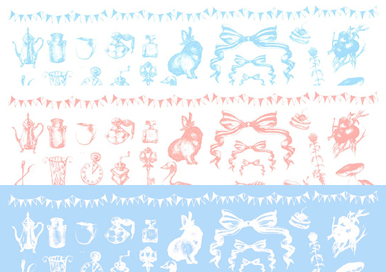 【割引】ガラス用 ガーリーアンティーク3色セット A3(ポーセリンアート転写紙)
