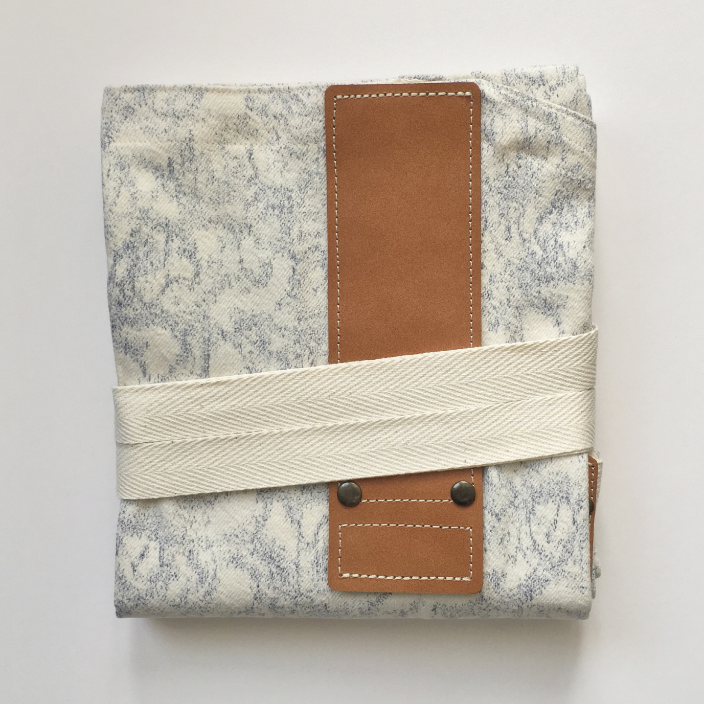 PAISLEYBLUExBROWN HASHIRA-JYU mitten pocket set