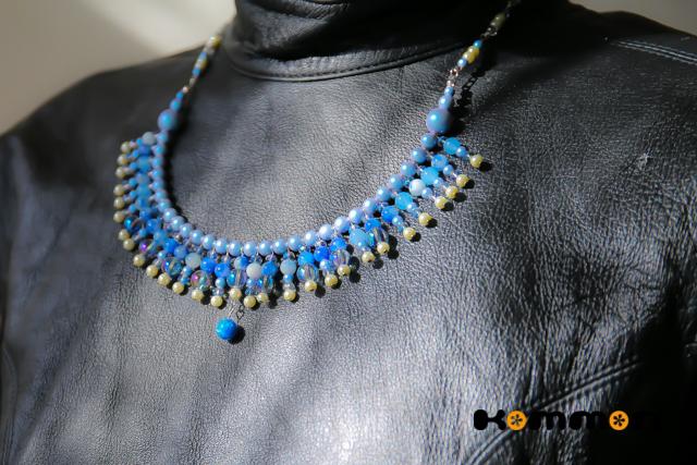 蒼い舞踏*スワロ/天然石のネックレス