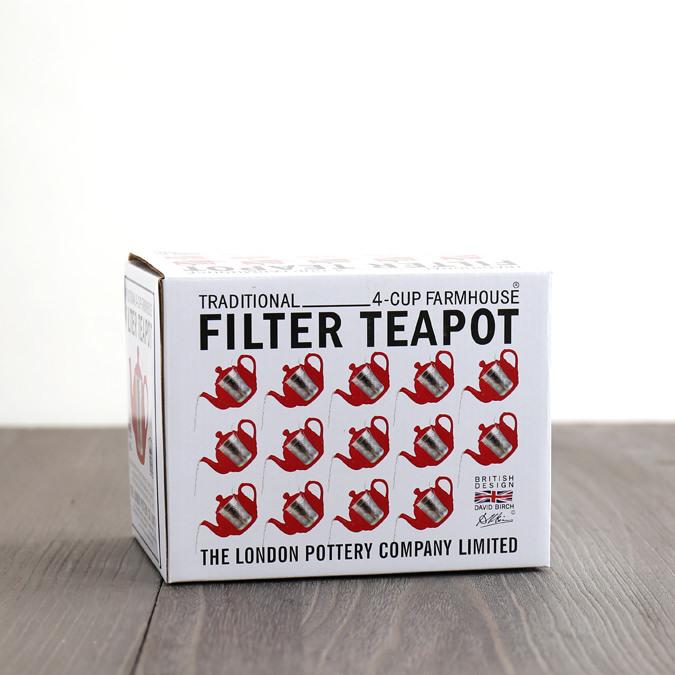 ティーポット 4カップ 900ml マットブラック