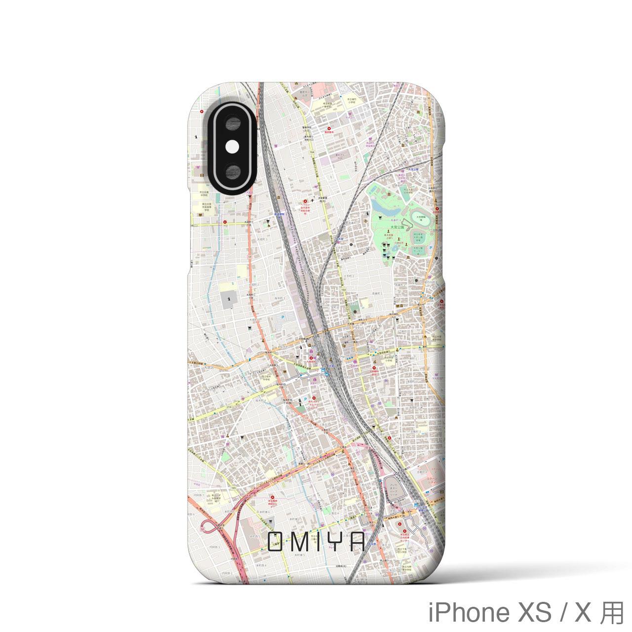 【大宮】地図柄iPhoneケース(バックカバータイプ・ナチュラル)