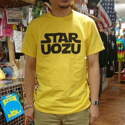 STAR UOZU Tシャツ イエロー×ブラック