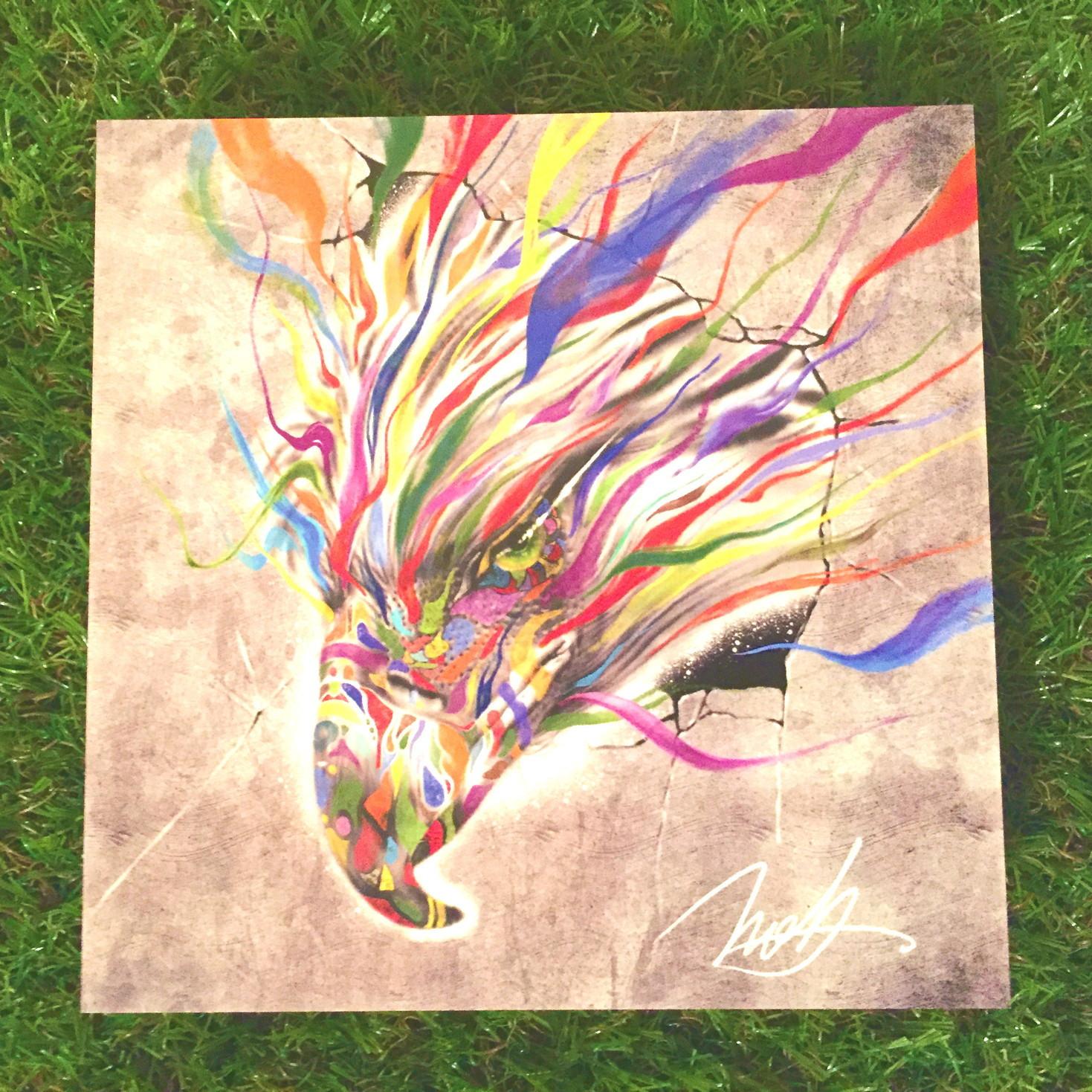 絵画 インテリア アートパネル 雑貨 壁掛け 置物 おしゃれ 鳥 動物  現代アート ロココロ 画家 : nob 作品 :  Re : breakthrough