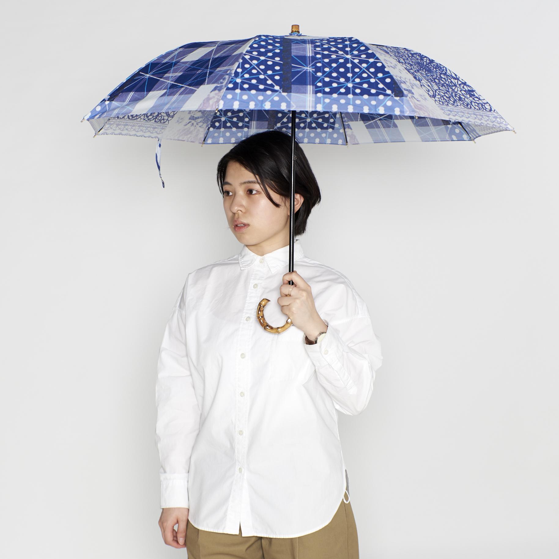 晴雨兼用の折りたたみ日傘 - KATAKATA - 1color