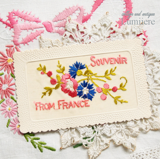 embroidery postcard