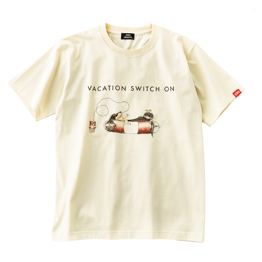 WAVE ON VACATION T-SHIRT [CREAM]