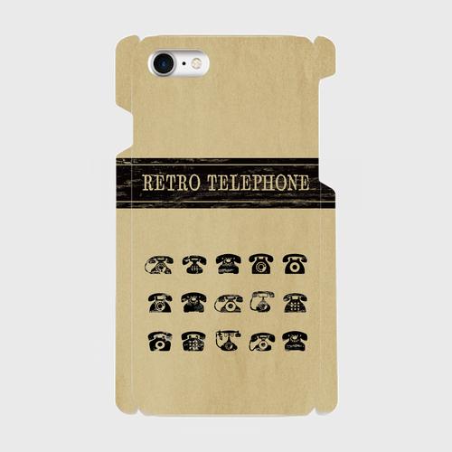 レトロ柄(電話)/ iPhoneスマホケース(ハードケース)