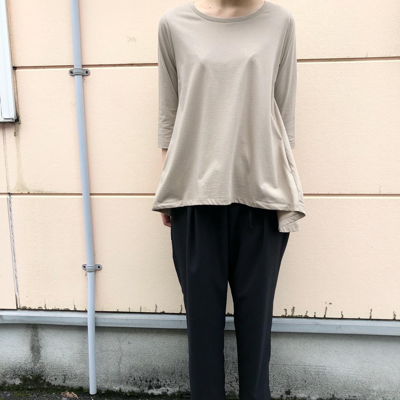【 siro de labonte 】- R013220 - 5部袖フレアTシャツ