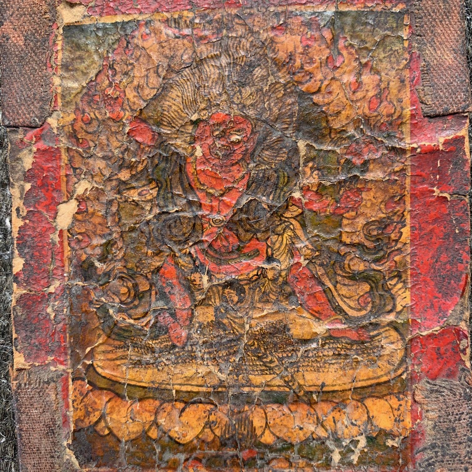 チベット 仏画護符ツァカリ マハーカーラ