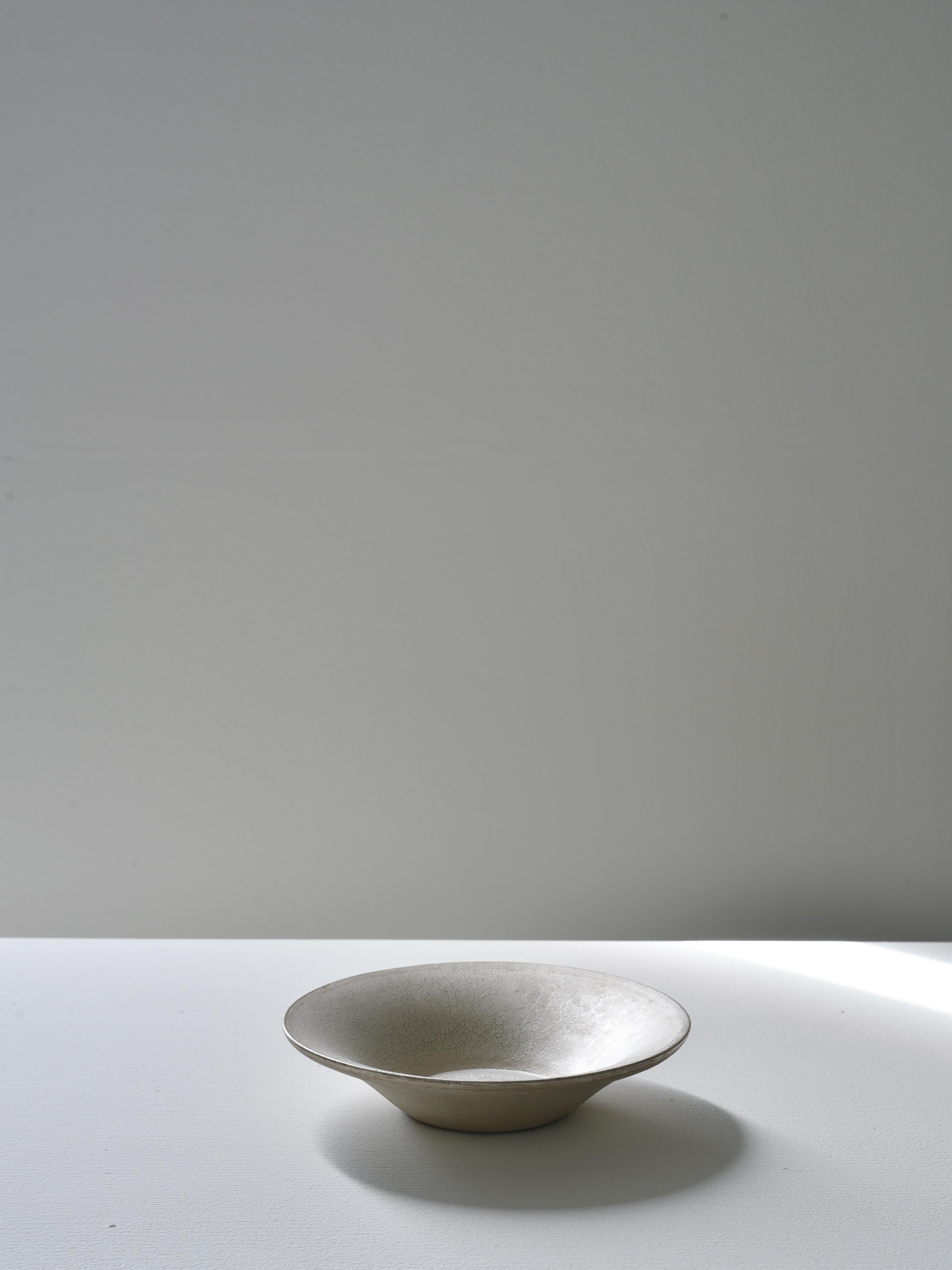 瀬川辰馬|硫化銀彩口広鉢小