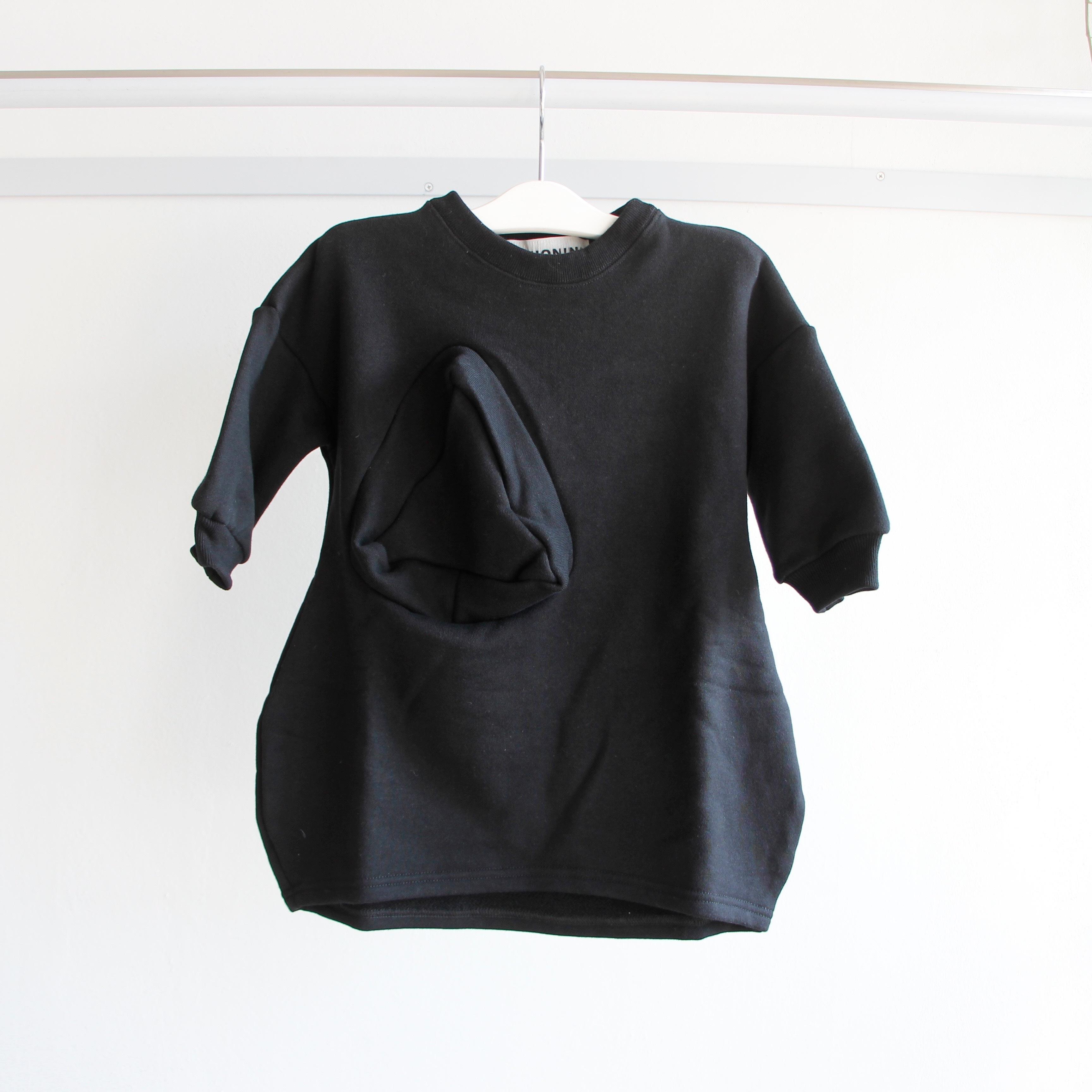 《UNIONINI 2019AW》◯△ sweat long dress / black / 1-10Y