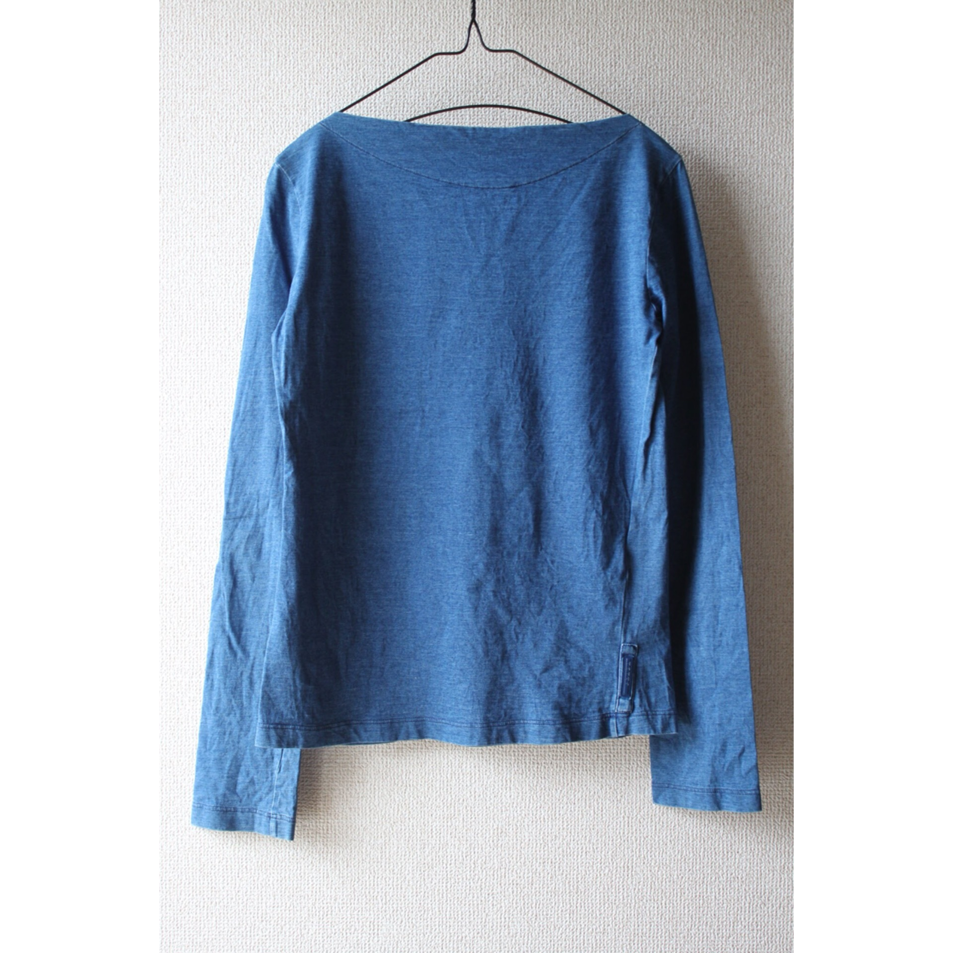 00s PRADA indigo long sleeve shirt