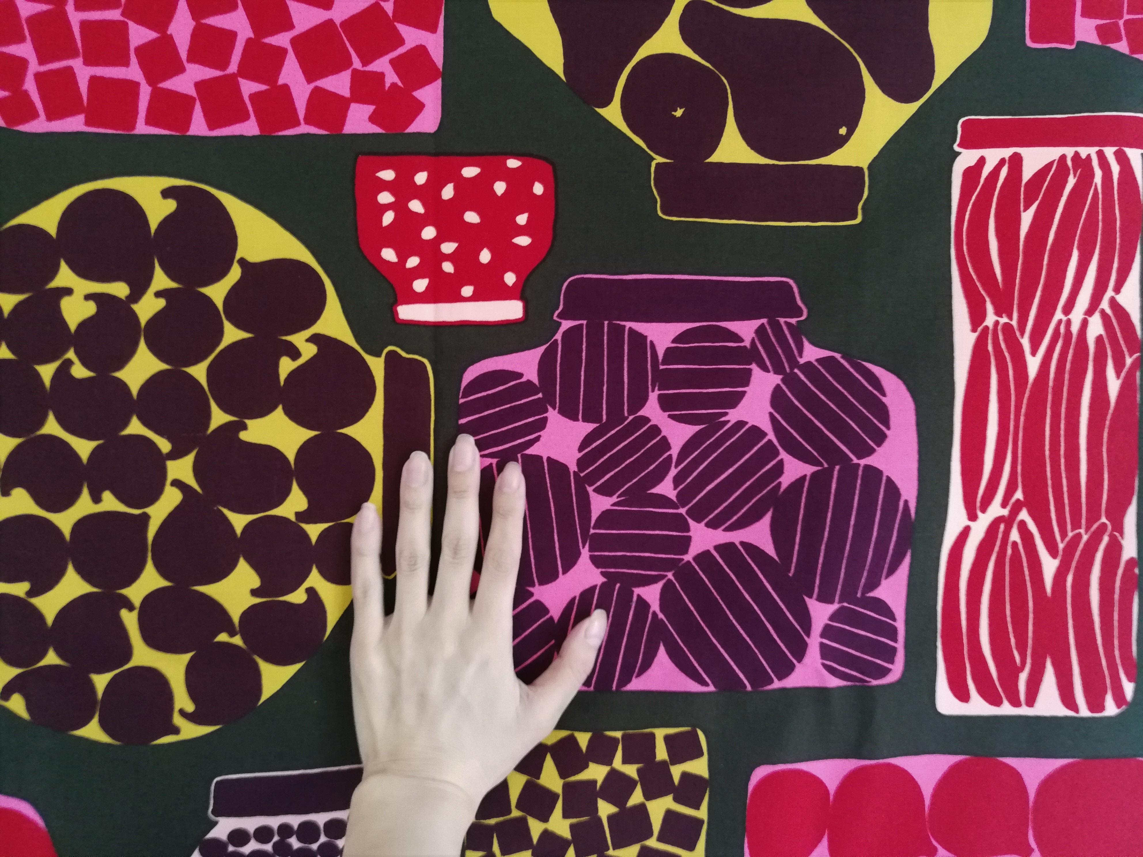 テキスタイル / マリメッコ / PURNUKKA コットン (83 x 73.5cm)