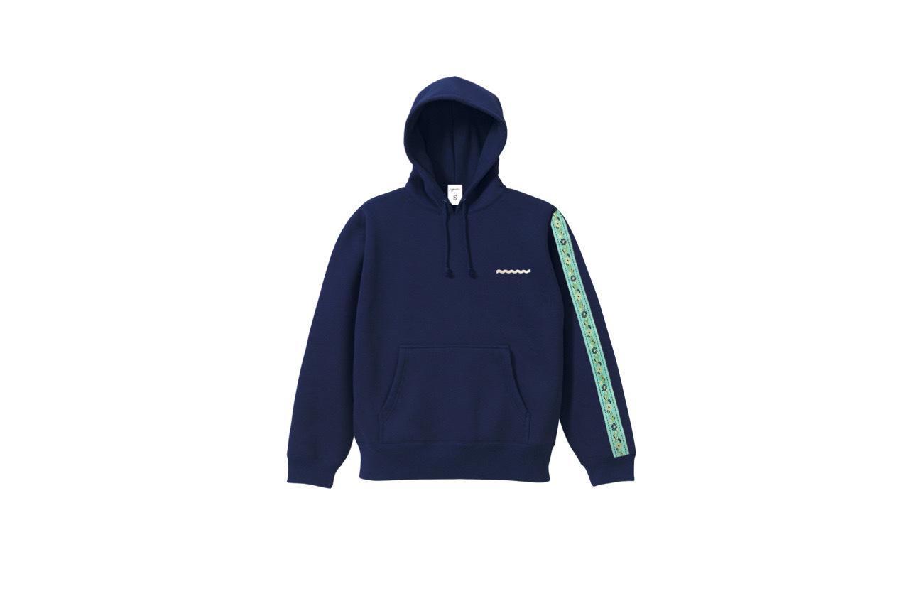 coguchi Flower line hoodie (NVY)