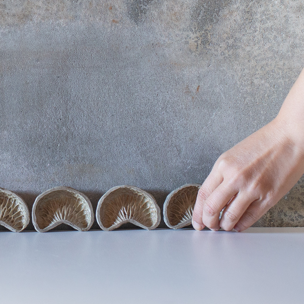 みかん型 陶器皿 5set