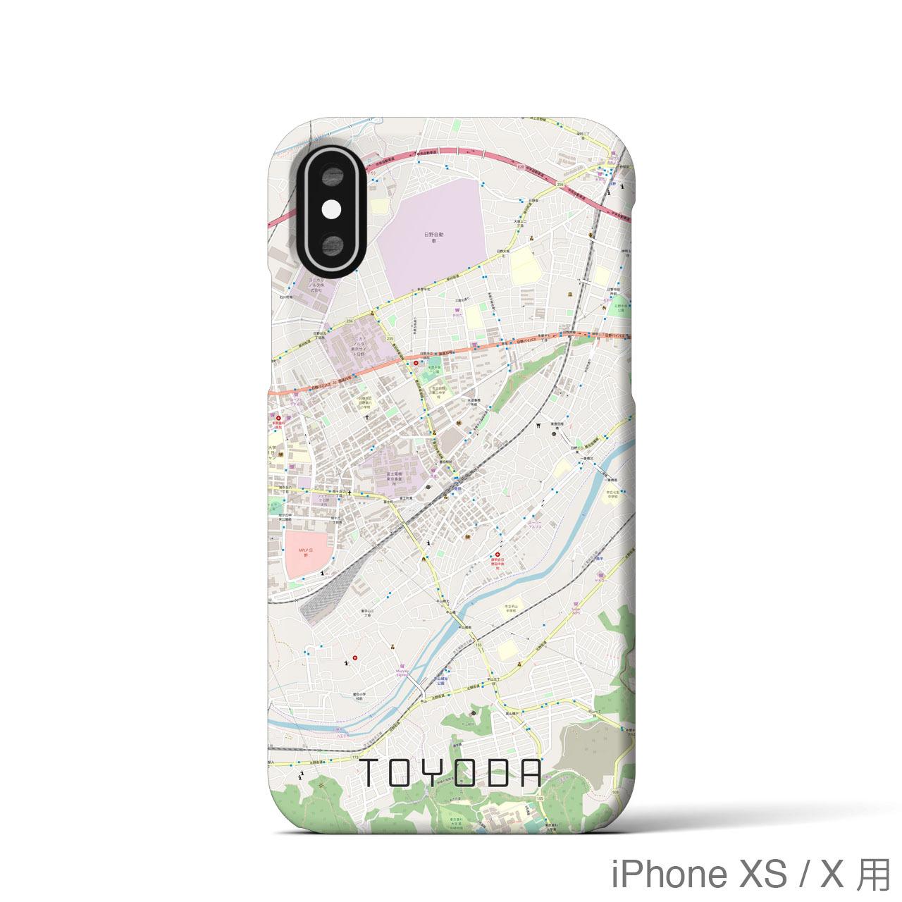 【豊田】地図柄iPhoneケース(バックカバータイプ・ナチュラル)