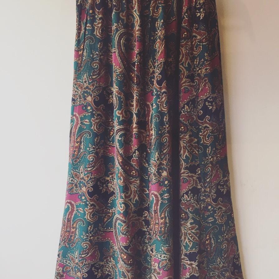 vintage paisley skirt