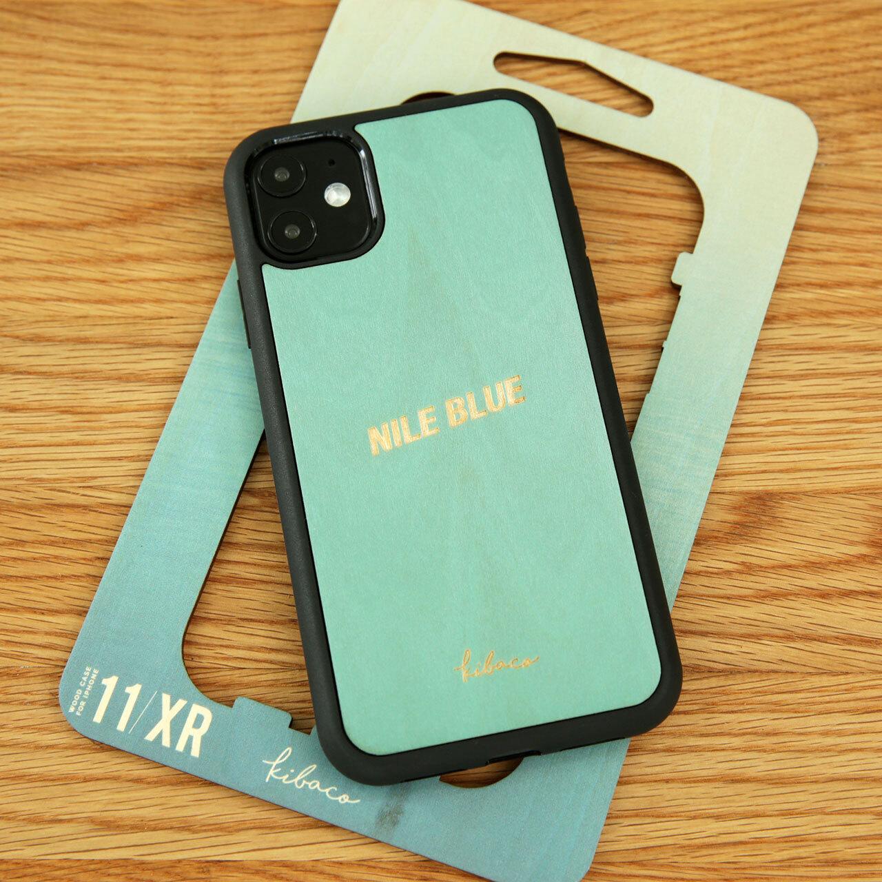 """名入れ ウッドiPhoneケース """"NILE BLUE"""""""