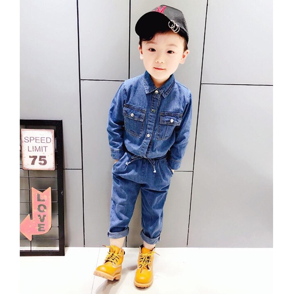 デニムシャツ&パンツセットアップ【802】