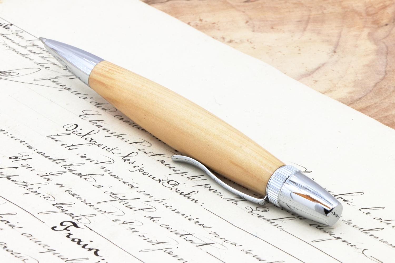 在庫「長崎そとめ産 聖木 つばき PTL」手作りボールペン♪ジェットストリーム芯