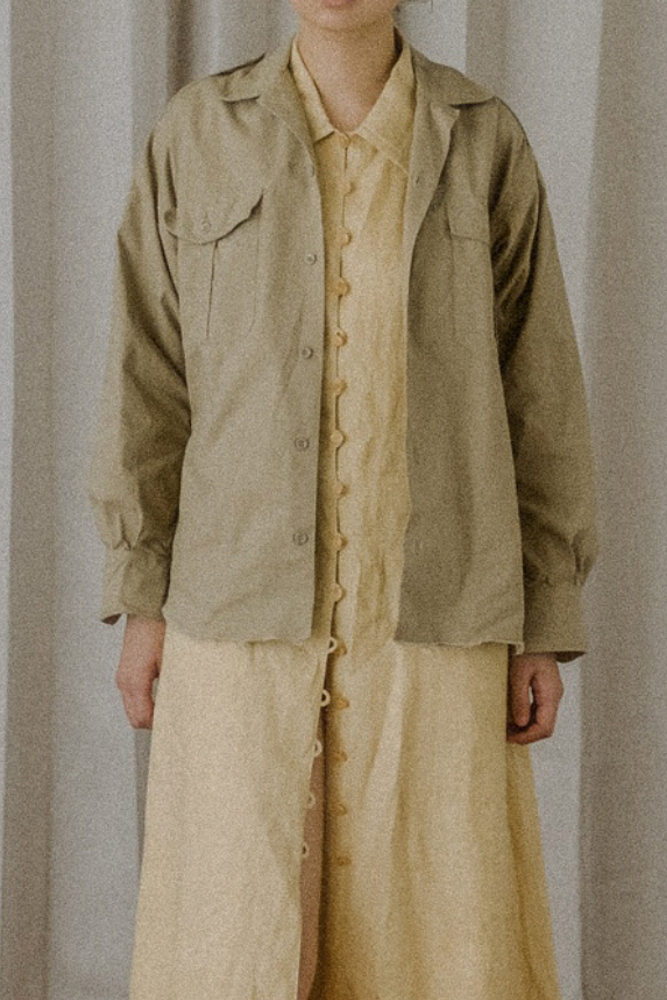 Vintage French Military Shirt (Beige)