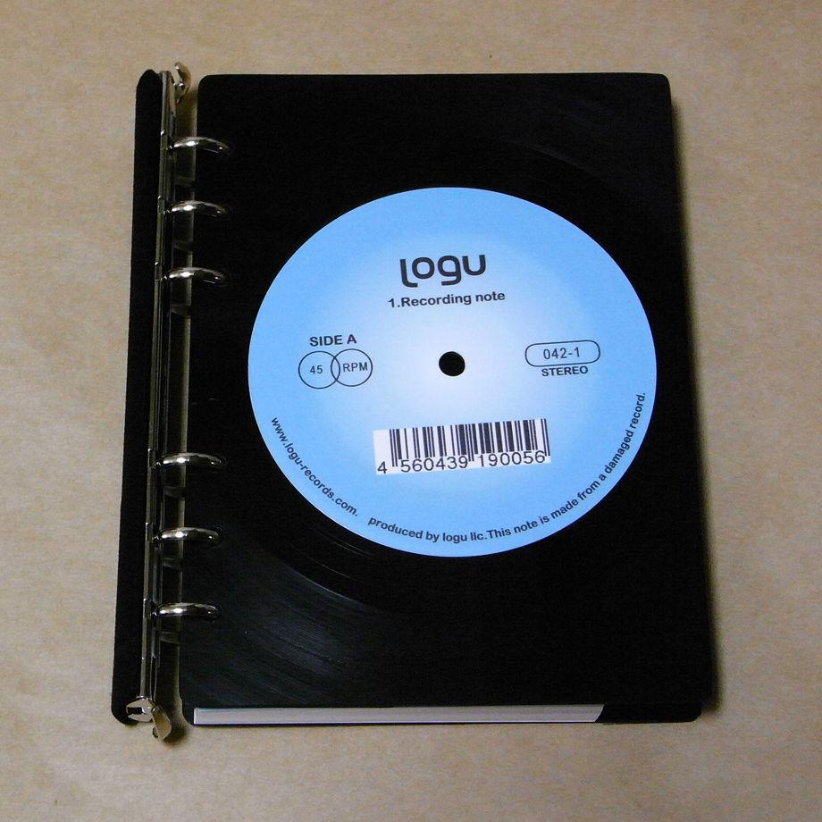 レコード盤がノートになった!Logu Recording Note 005_B
