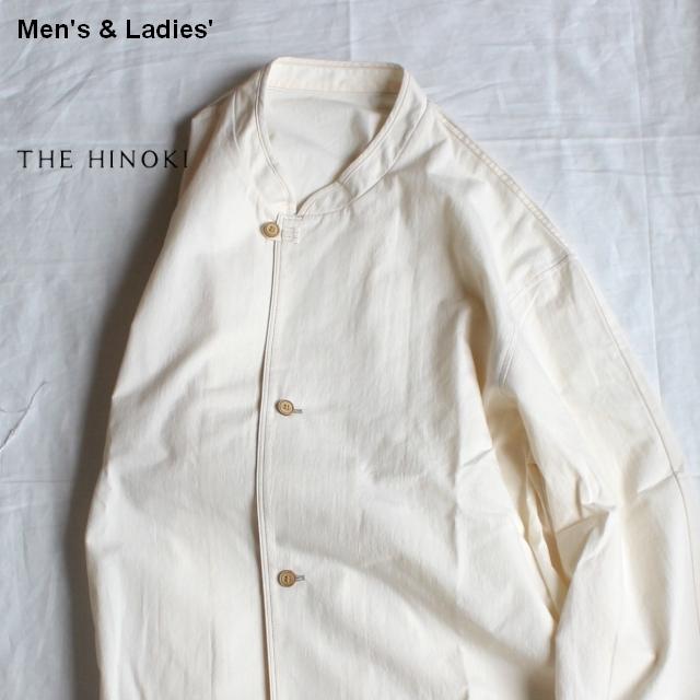 THE HINOKI パラシュートクロススタンドアップカラーシャツ TH19S-10 (ナチュラル)