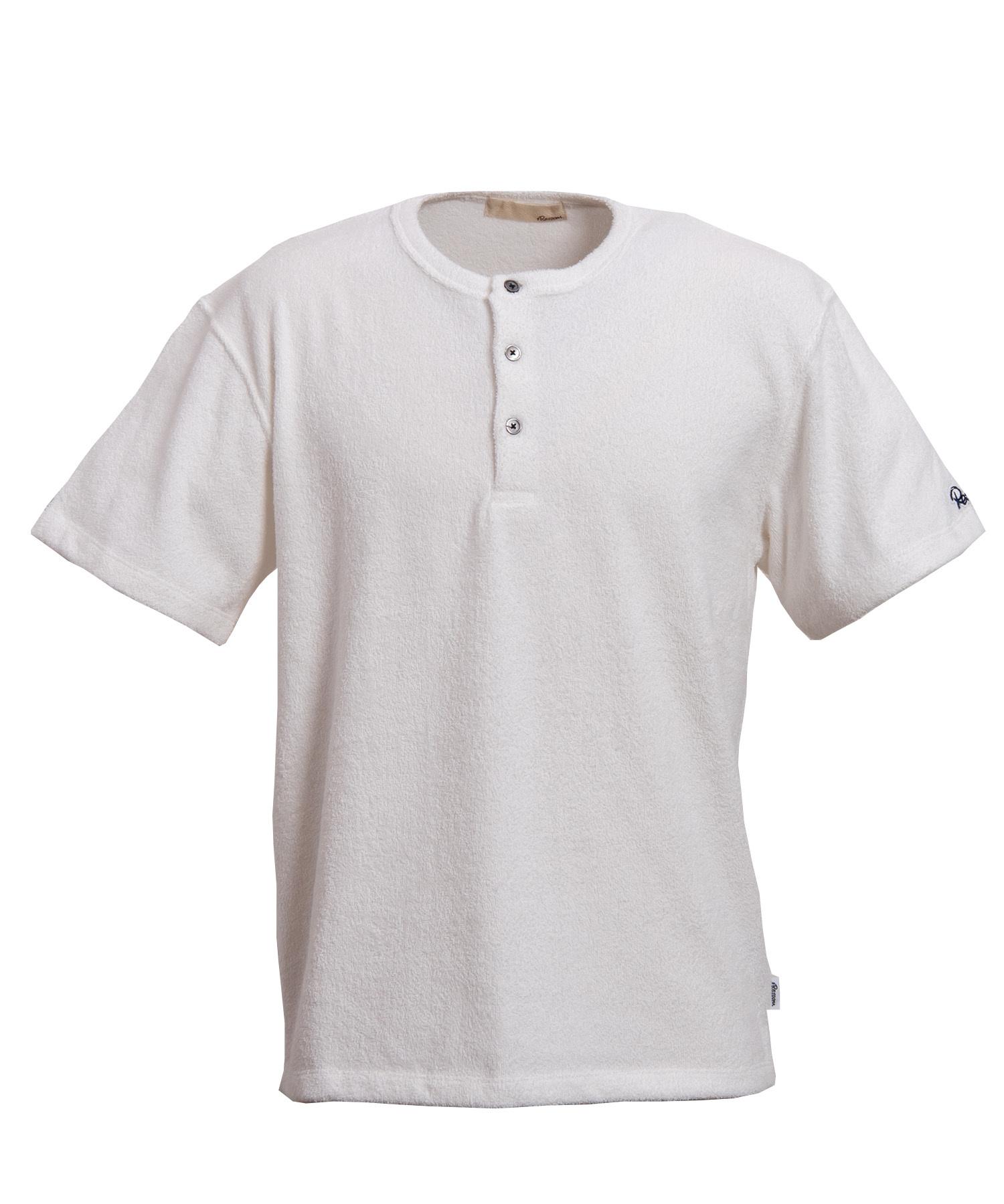 HENLEY NECK PILE T-shirt[REC221]