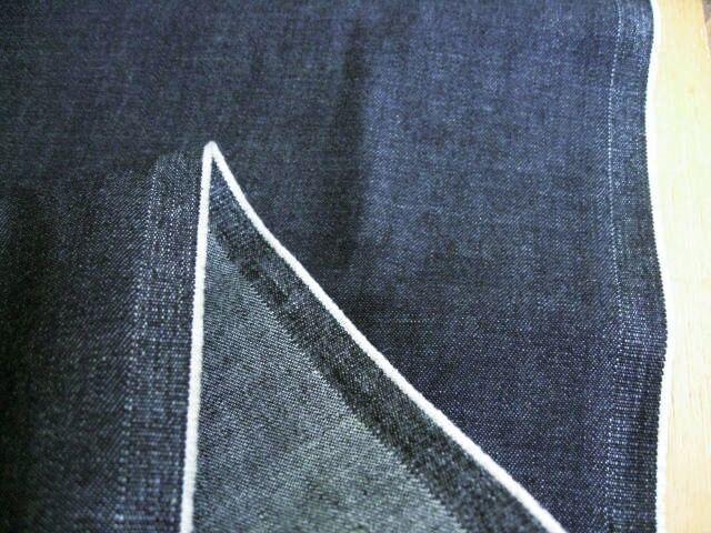 綿麻デニム 8~9オンス ダークネイビー(なす紺) CTN-0182