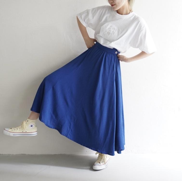 vintage summer wool skirt