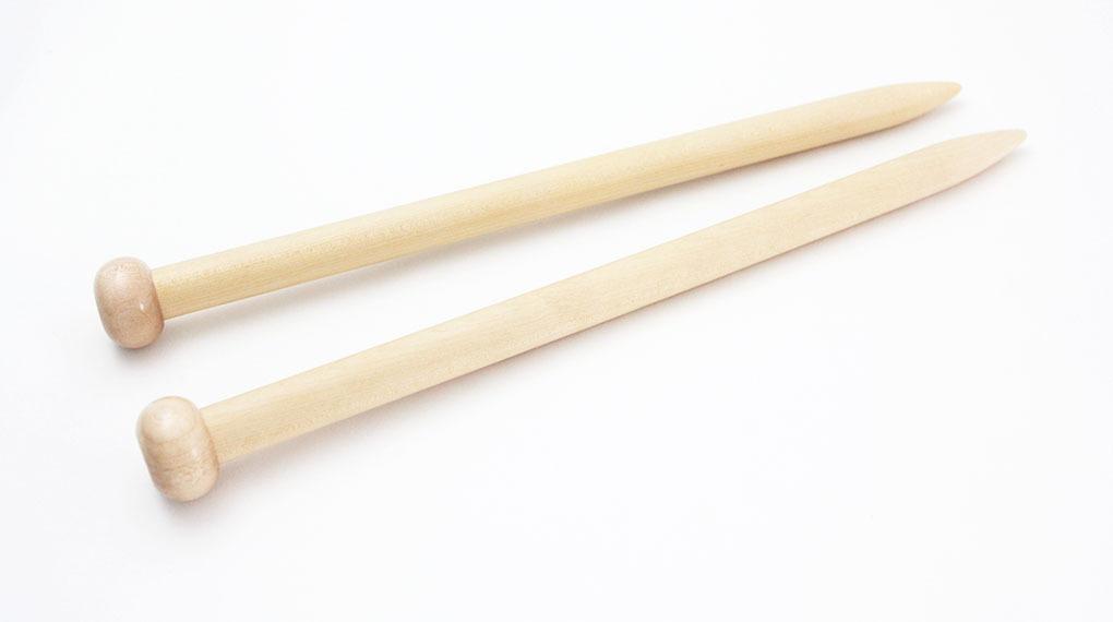 【竹製】玉付超極太 2本針 (長さ38cm 太さ25mm)