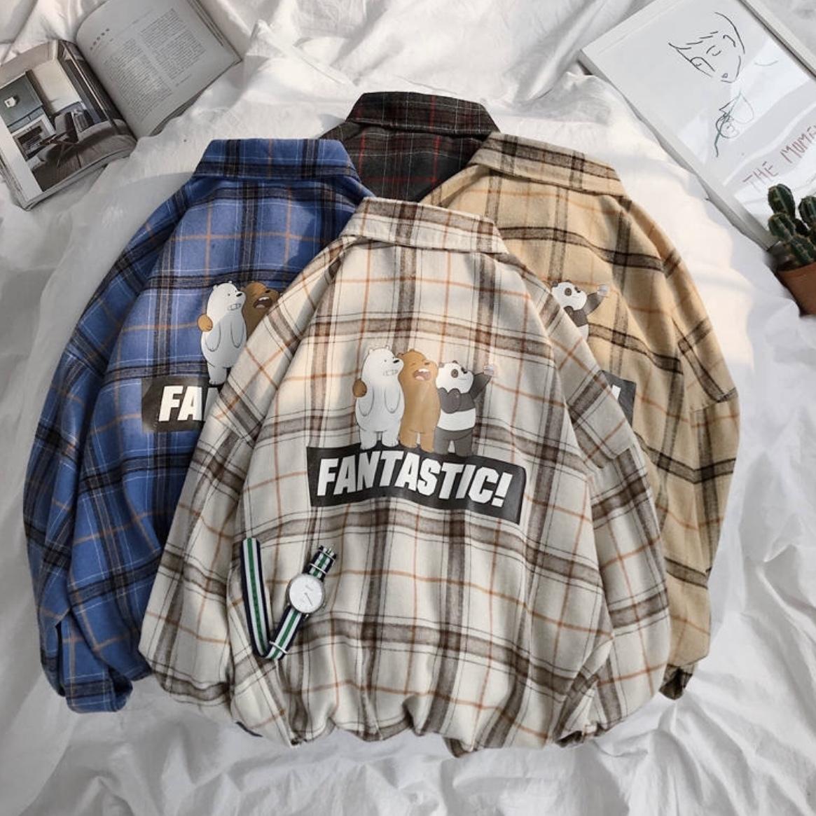 デザインイラストシャツ 韓国風 ストリートスタイル
