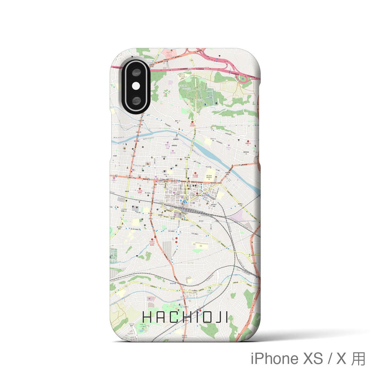 【八王子】地図柄iPhoneケース(バックカバータイプ・ナチュラル)