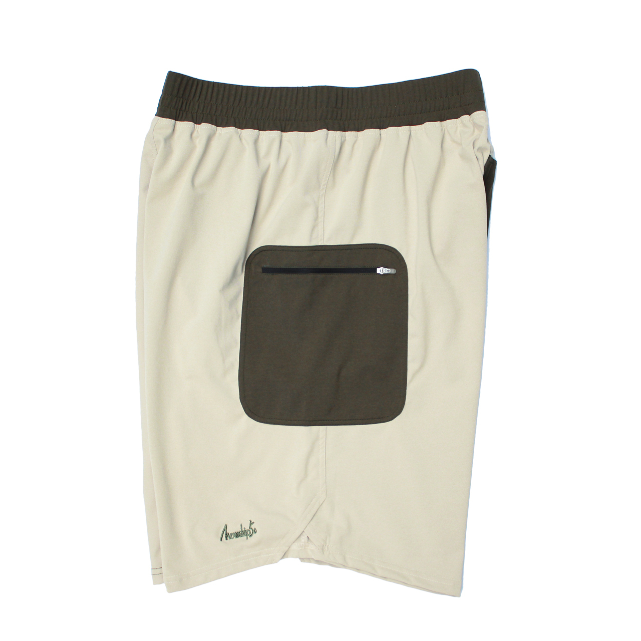 LOGO street shorts <Khaki×Beige>  - 画像3