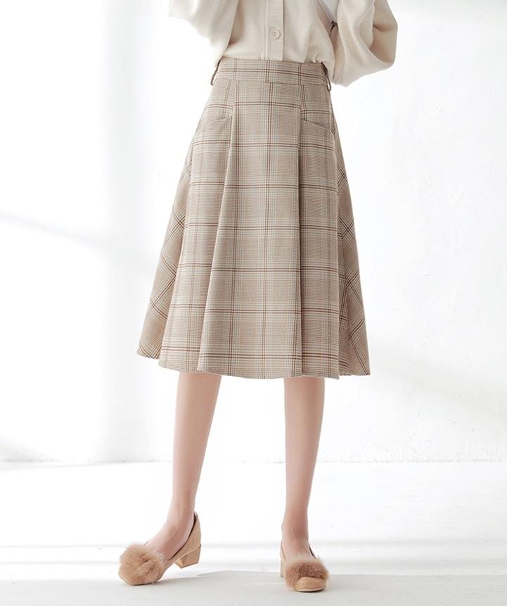 フレアスカート フェミニン レトロ ミディアム丈 スカート ハイウエスト Aライン デート 大きいサイズ レディース