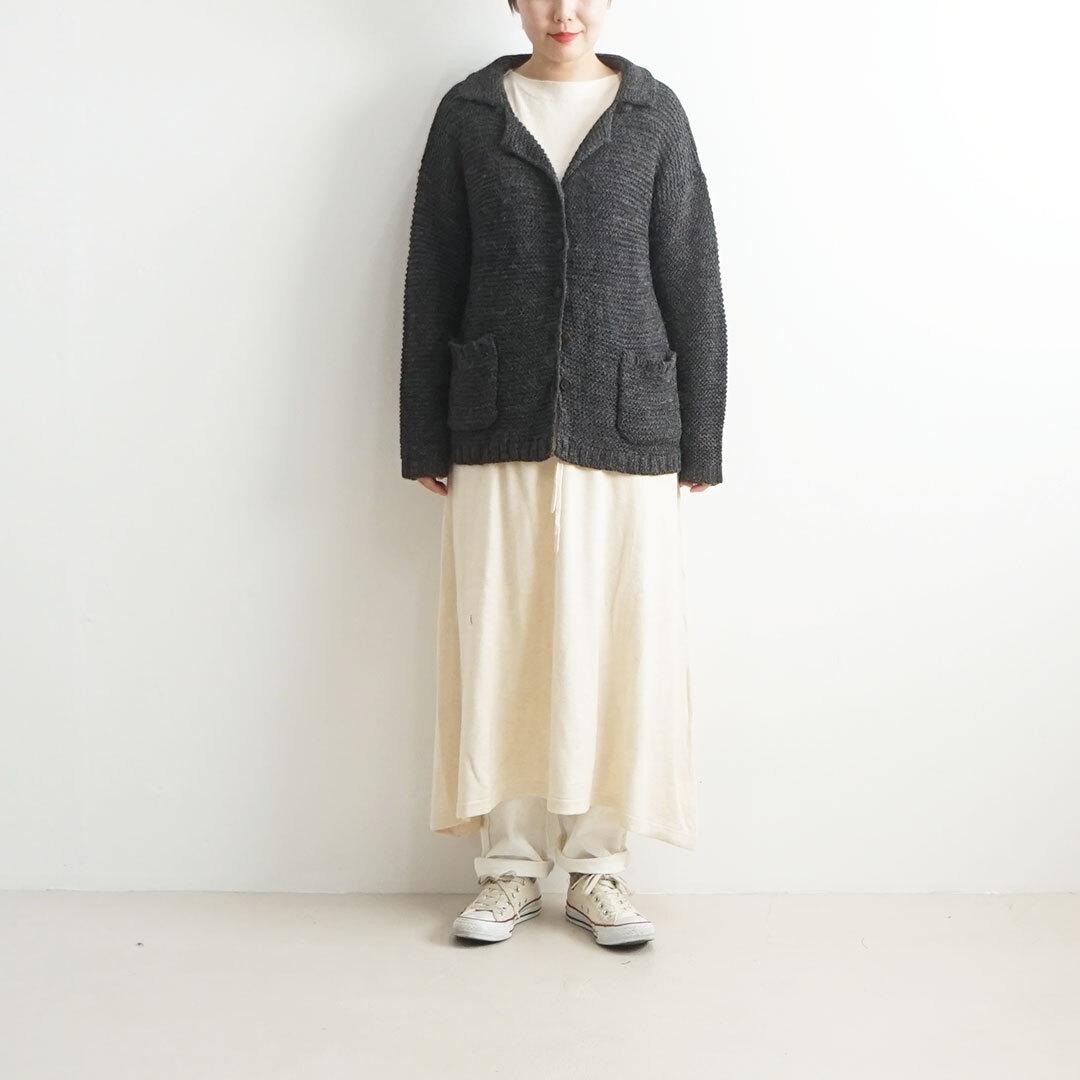 【再入荷なし】  ichi イチ ガーター編みカーディガン (品番190975)