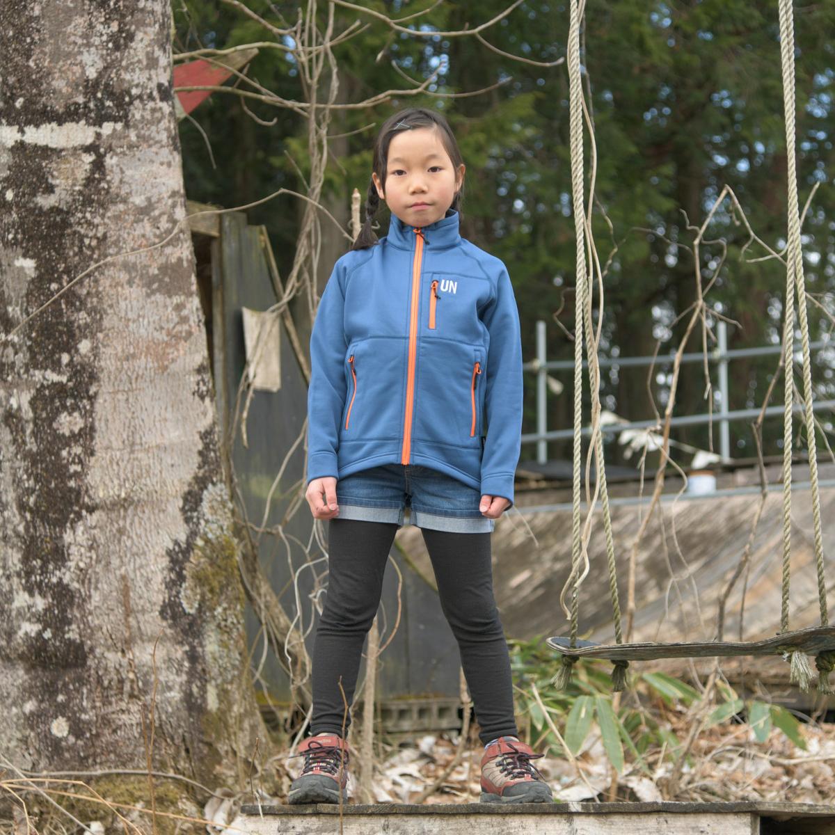 Kids 130 / UN3000 Mid weight fleece Jacket / Navy