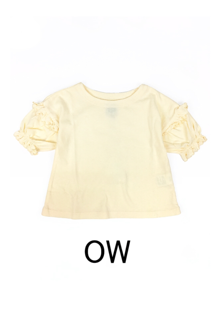 OCEAN&GROUND /FRILL SLEAVE T off white