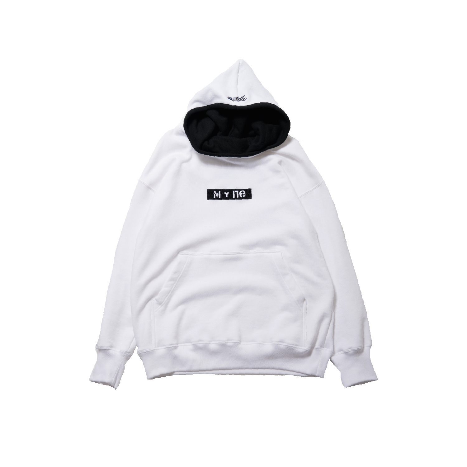 M+ne MAGIC TAPE HOODIE / WHITE - 画像1