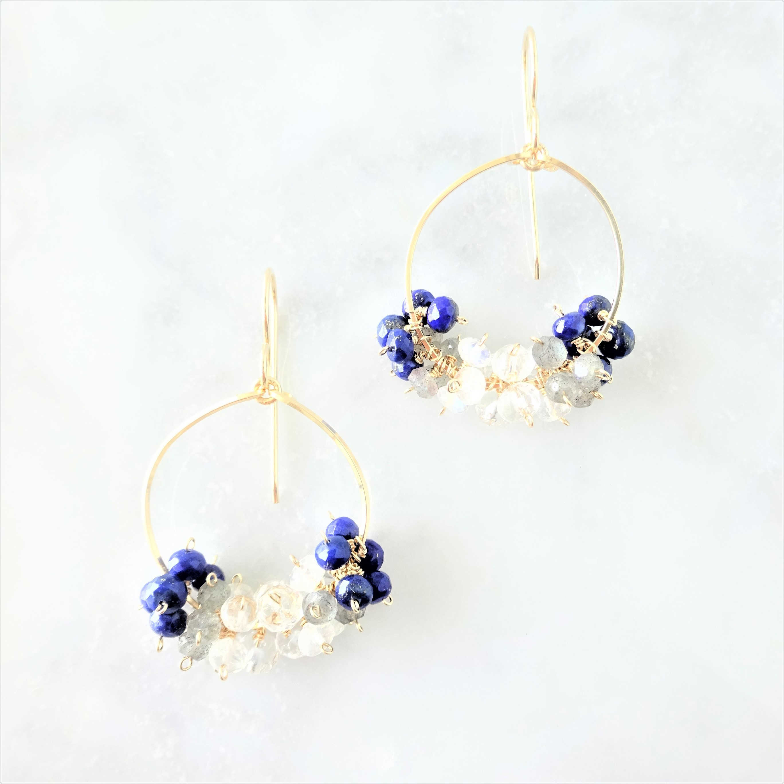 送料無料 14kgf宝石質 gradient colors pierced earring / earring