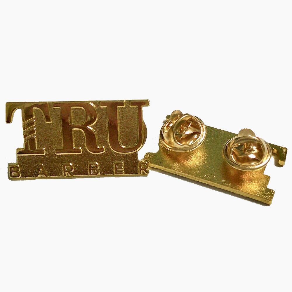 TRUBARBER ピンバッジ ゴールド