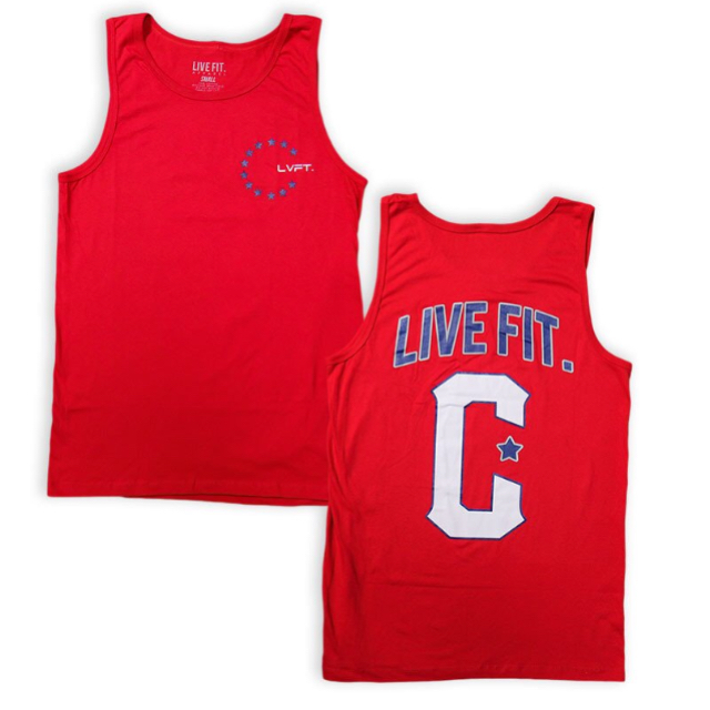 LIVE FITMilitant Tank- Red