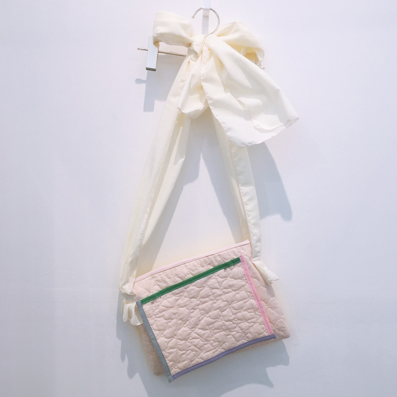 arere / 『スキ』肩掛けBAG - PINK*YELLOW 01