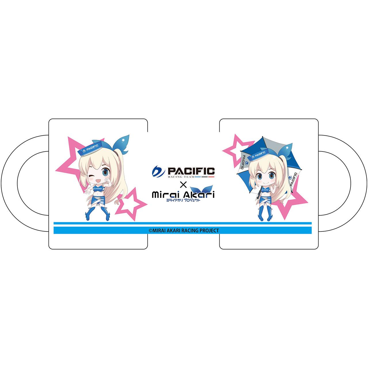 【数量限定】パシフィックレーシングチーム×ミライアカリ/マグカップ デフォルメレースクイーンVer.