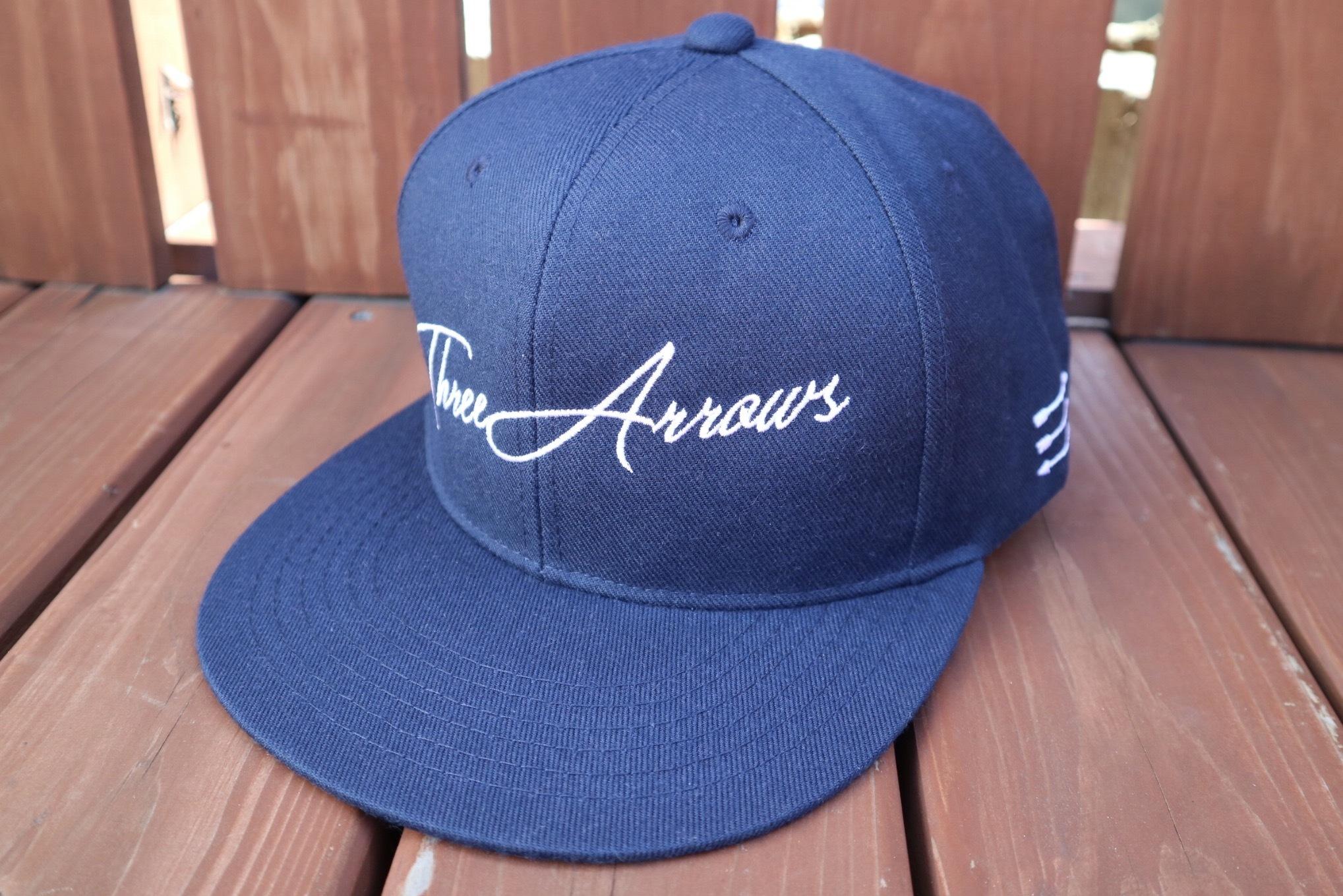 ThreeArrows スナップバックCAP(navy)