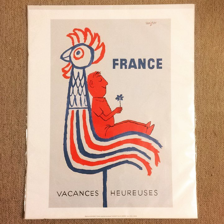 ポスター「レイモン・サヴィニャック フランス 幸福なヴァカンス」 - 画像1